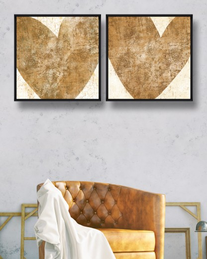 Tablou 2 piese Canvas Heart I & II