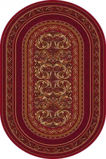Covor Aralia Dark Red Oval, Wilton