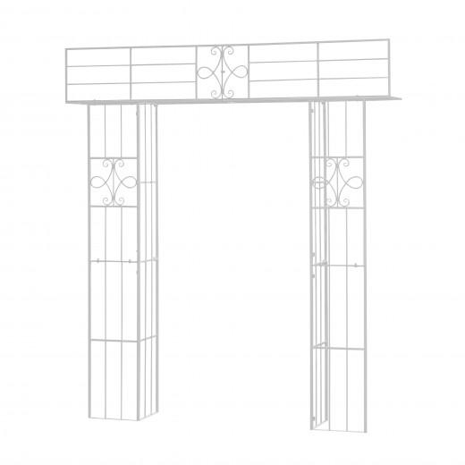 Arcada metalica de gradina Klara Alb, L210xl35xH235 cm