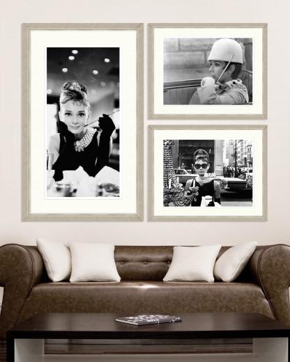 Tablou 3 piese Framed Art Audrey Hepburn