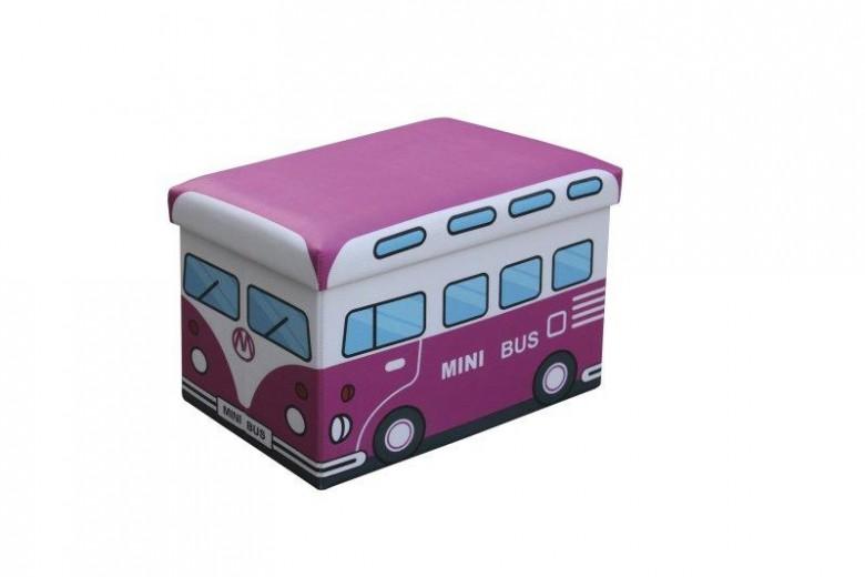 Taburet pentru copii, cu spatiu de depozitare Kiri Pink, l48xA32xH32 cm
