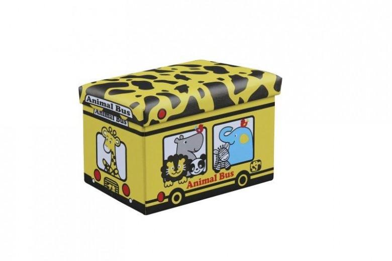 Taburet pentru copii, cu spatiu de depozitare Kiri Yellow, l48xA32xH32 cm