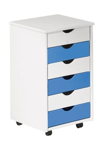 Dulap cu sertare pentru copii Beppo Blue