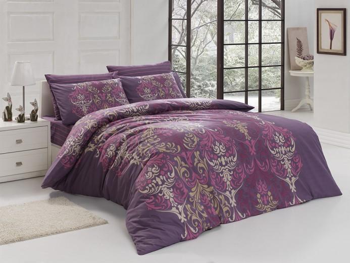 Lenjerie de pat Ranforce Julie V5 Purple