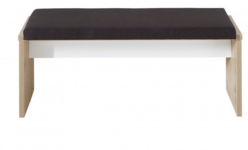 Banca tapitata cu stofa Madeline Stejar / Maro, l126xA40xH48 cm