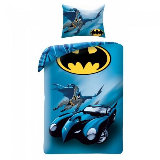 Lenjerie de pat copii Cotton Batman BM-4002BL