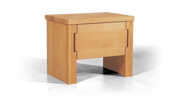 Noptiera din lemn masiv de fag Koli clear, l42xA31xH35 cm