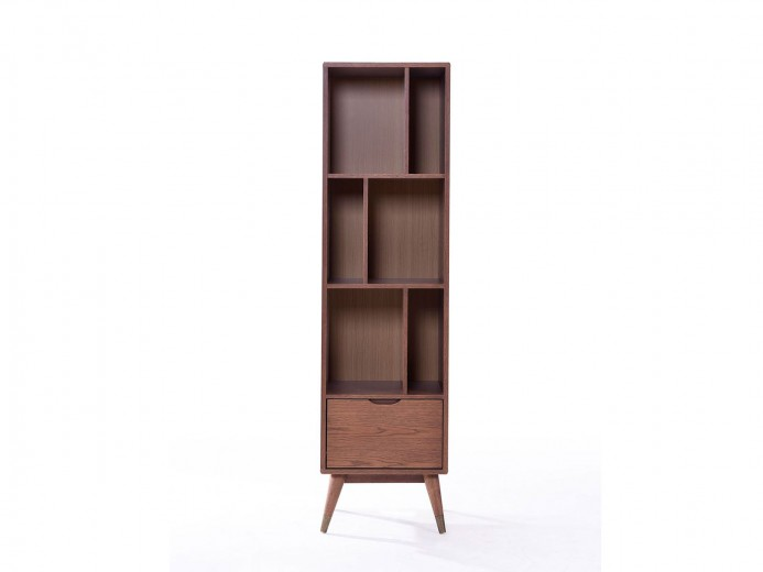 Biblioteca din lemn si MDF Ida, l48xA40xH177,5 cm