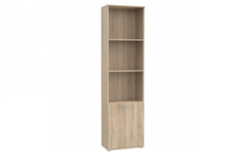 Biblioteca din pal, cu 1 usa Nikita Stejar Sonoma, l50,2xA29,1xH180,9 cm