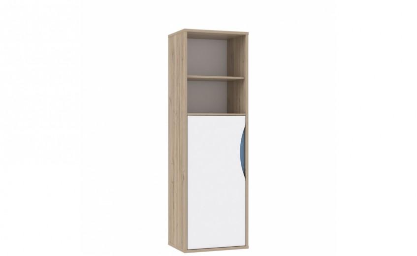 Biblioteca din pal cu 1 usa Novelle I Oak / White, l55xA41,5xH176 cm