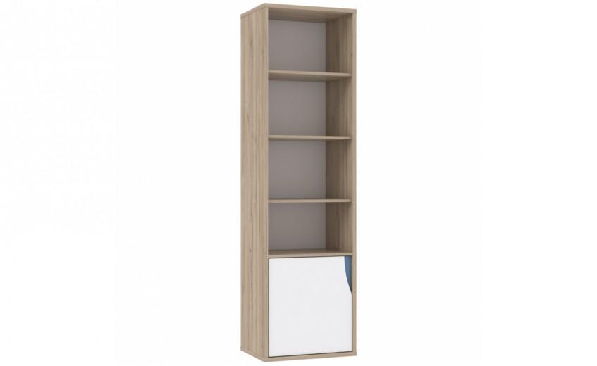 Biblioteca din pal cu 1 usa Novelle Oak / White, l55xA41,5xH195,1 cm