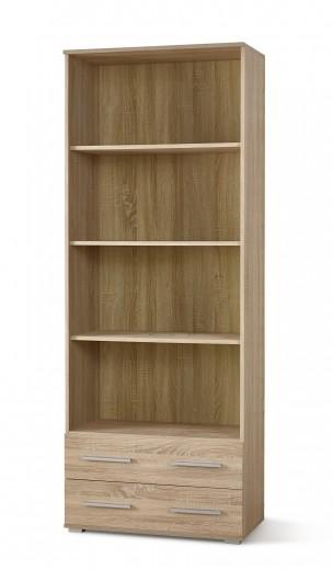 Biblioteca din pal cu 2 sertare Lima REG-3 Stejar Sonoma, l77xA40xH200 cm