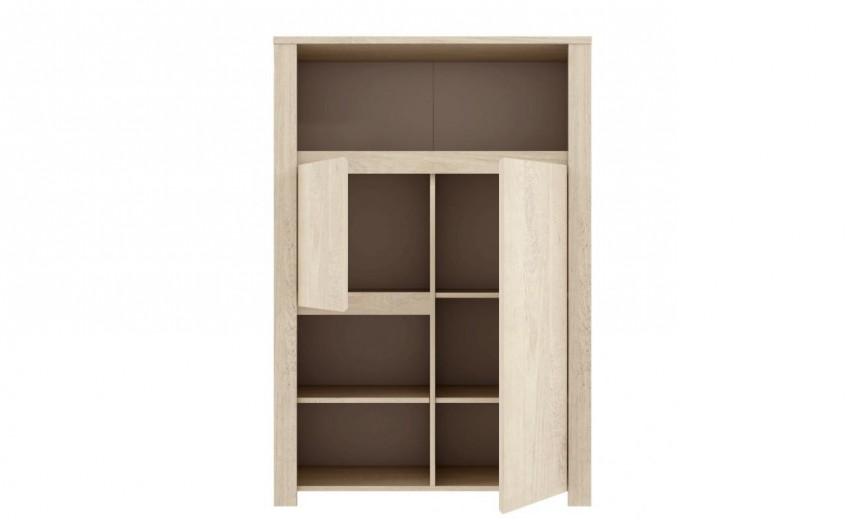 Biblioteca din pal Large Erdezio Pin White, l93,4xA41,6xH138,3 cm