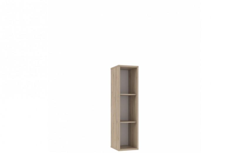 Biblioteca din pal Small Novelle Oak / White, l30xA34,3xH129,5 cm