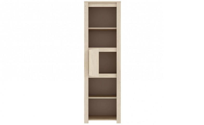 Biblioteca din pal Small Erdezio Pin White, l58,7xA41,6xH196 cm
