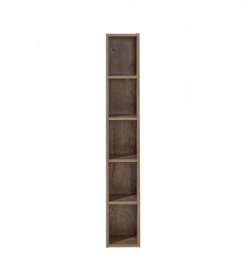 Biblioteca suspendata din pal si MDF Madeline Havel Oak Cognac, l20xA20xH125 cm