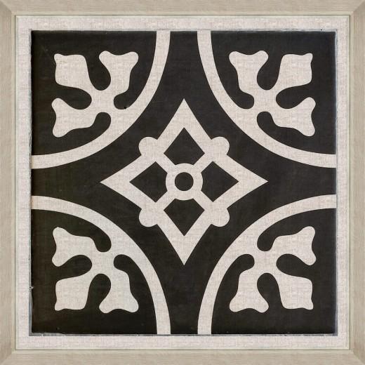 Tablou Framed Art Black Tile IV