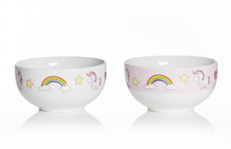 Set boluri cereale Unicorn, Ø 13 cm, 2 piese