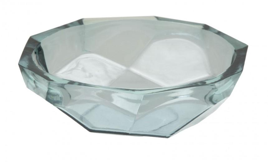 Bol decorativ din sticla reciclata Stone Azur Ø25xH8 cm