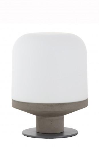 Veioza Bombast Concrete/ White