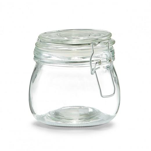 Borcan pentru depozitare cu capac, inchidere ermetica, Clip Glass, 500 ml, Ø 11xH11 cm