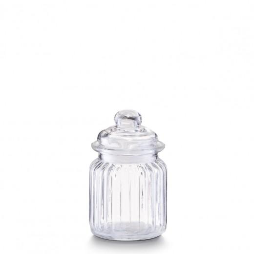 Borcan pentru depozitare din sticla Nostalgia, capac etans, 250 ml, Ø 8xH12,5 cm