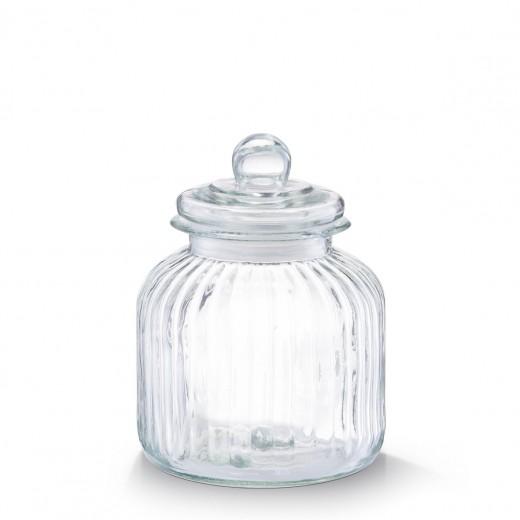 Borcan pentru depozitare din sticla Nostalgia, capac etans, 2800 ml, Ø 17,5xH22 cm