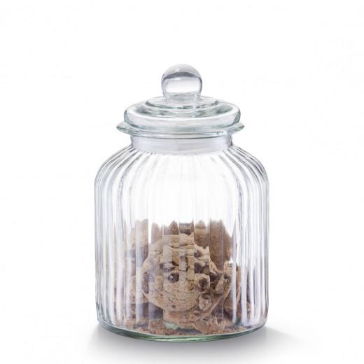 Borcan pentru depozitare din sticla Nostalgia, capac etans, 3800 ml, Ø 17,5xH26 cm