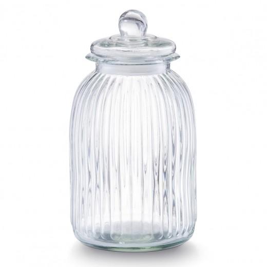 Borcan pentru depozitare din sticla Nostalgia, capac etans, 4800 ml, Ø 17,5xH33 cm