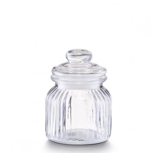 Borcan pentru depozitare din sticla Nostalgia, capac etans, 600 ml, Ø 11xH14,5 cm