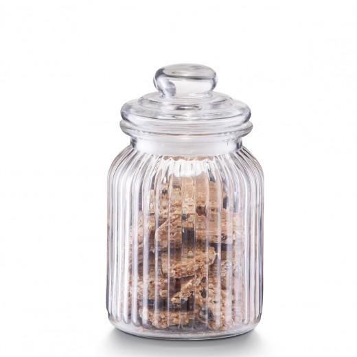 Borcan pentru depozitare din sticla Nostalgia, capac etans, 900 ml, Ø 11xH18,5 cm