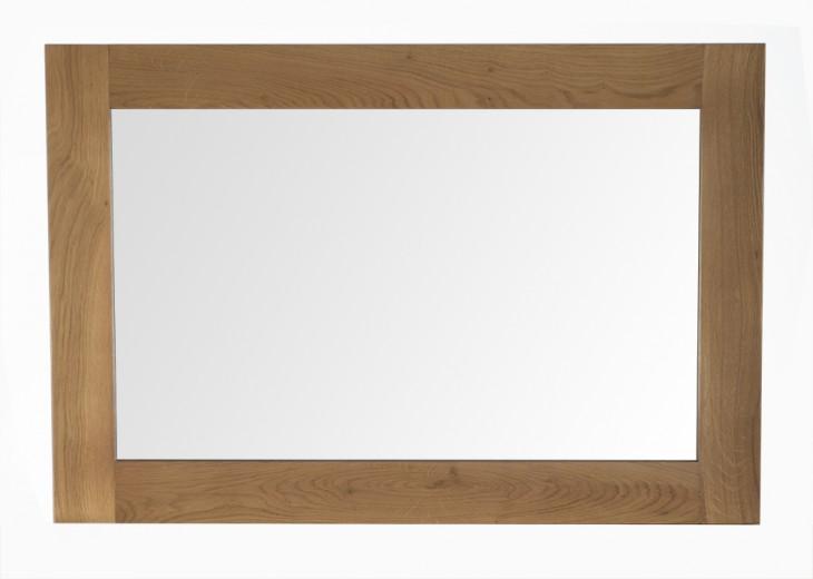 Oglinda decorativa din lemn de stejar si furnir Breeze Oak, l90xA2xH60 cm