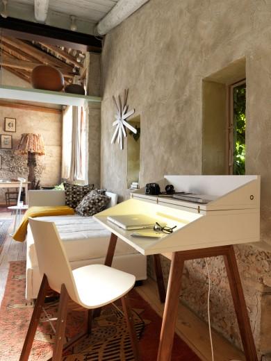 Masa de birou Bureau, L90xl60xh85-100 cm