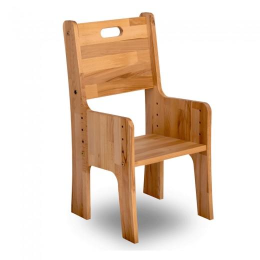 Scaun din lemn de fag, Ecodesk, L34,5xl36h66,4 cm