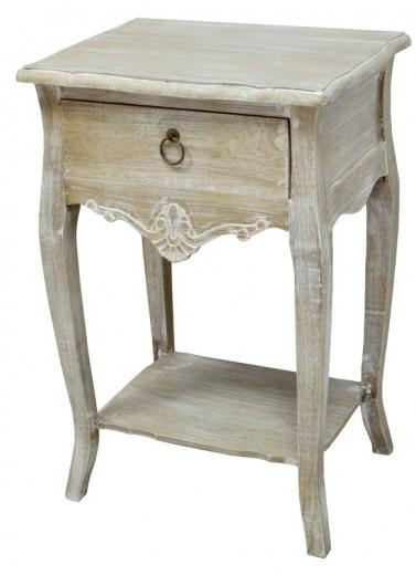 Cabinet din lemn de plop, furnir si MDF, cu 1 sertar Merano ME019B Light Brown, l47xA36xH70 cm