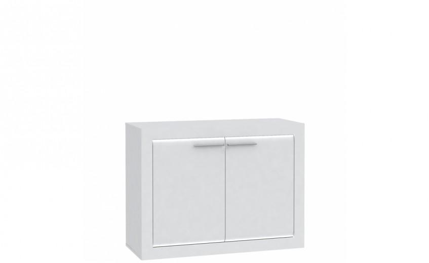 Cabinet din pal, cu 2 usi Livinglight Alb, l103xA41,4xH79 cm