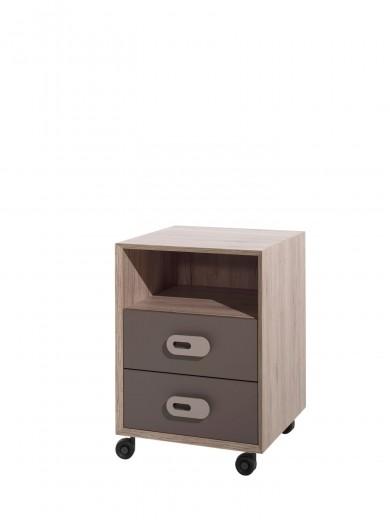 Cabinet din pal cu 2 sertare pentru copii Emiel Maro / Stejar, l48xA50xH68 cm