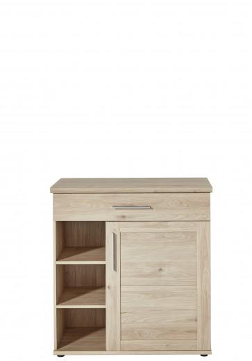 Cabinet hol din pal, cu 1 usa si 1 sertar, Fines Natural, l92xA40xH97 cm