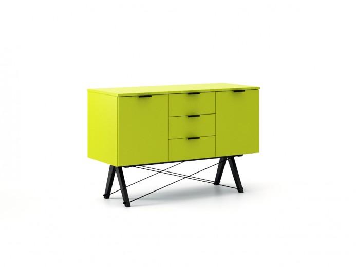 Comoda Midi Green Neon, l130xA50xH80 cm