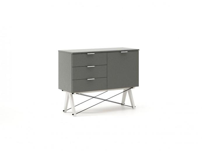 Comoda Mini Grey, l100xA40xH80 cm