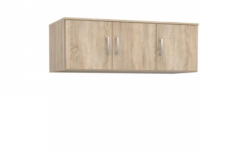 Cabinet suspendat din pal, cu 3 usi Nikita Stejar Sonoma, l122xA52,7xH42,5 cm