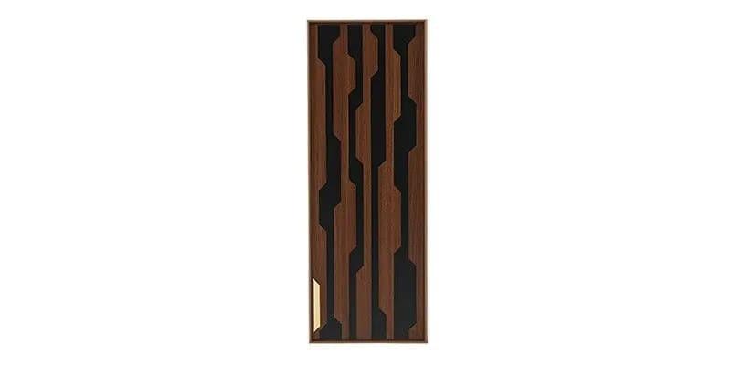 Cabinet suspendat din pal cu 1 usa Louisa Nuc / Negru, l33,6xA28,5xH90,5 cm