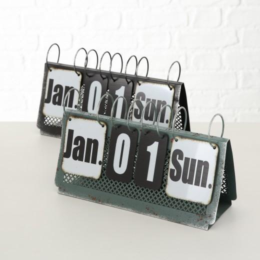 Calendar de birou din metal Aristo Multicolor, Modele Asortate, l31xA10xH18 cm