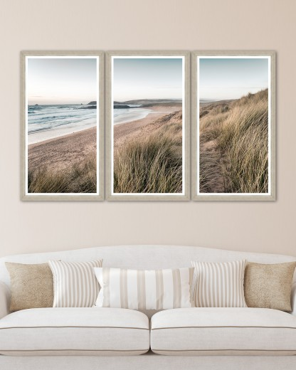 Tablou 3 piese Framed Art Calm Beach Triptych
