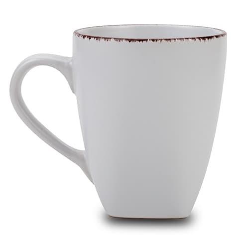 Cana din ceramica White Sugar Alb, 400 ml