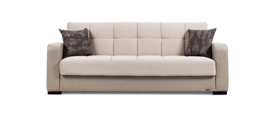 Canapea extensibila cu lada de depozitare, 3 locuri Destina K2, l222xA72xH83 cm-Bej