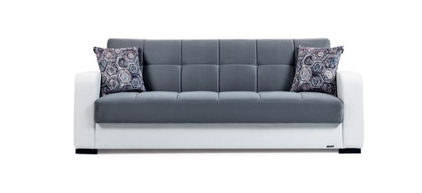 Canapea extensibila cu lada de depozitare, 3 locuri Destina, l222xA72xH83 cm