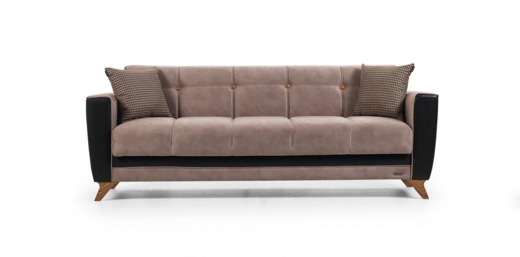 Canapea extensibila cu lada de depozitare, 3 locuri Grande Maro K3, l226xA82xH84 cm