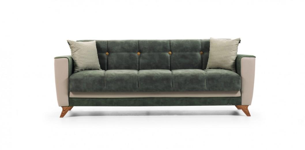 Canapea extensibila cu lada de depozitare, 3 locuri Grande Verde K2, l226xA82xH84 cm