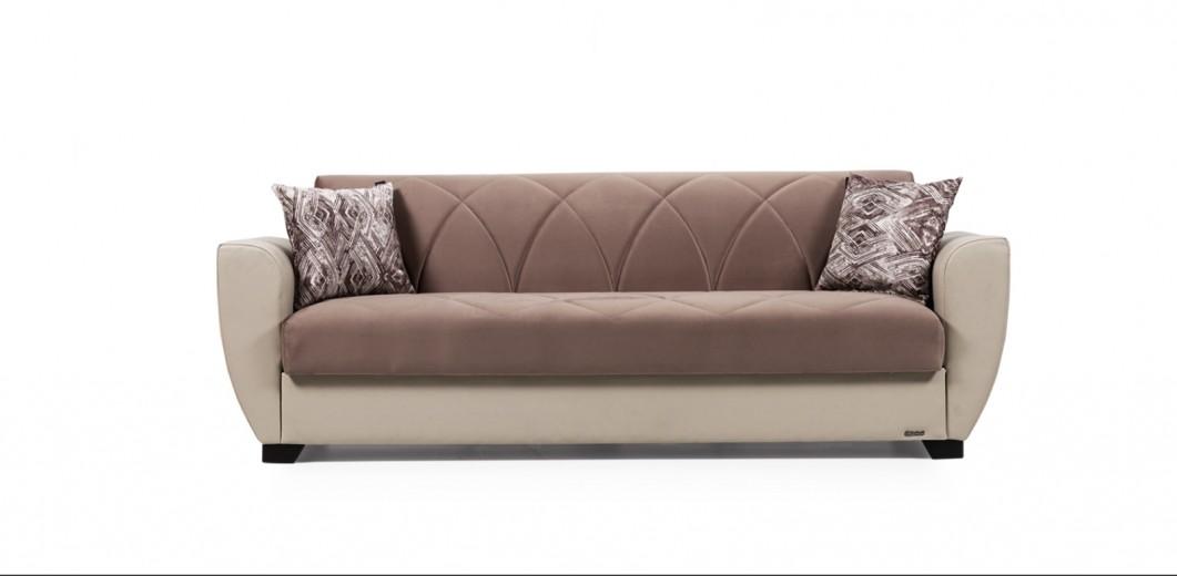 Canapea extensibila cu lada de depozitare, 3 locuri Sempati Maro K2, l230xA71xH83 cm